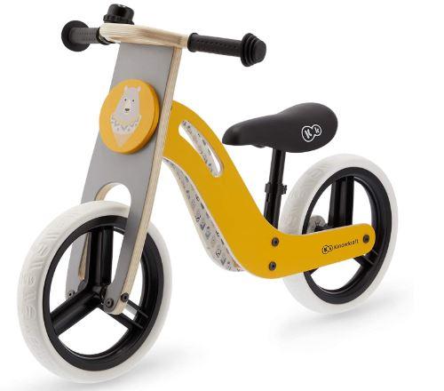 la draisienne Kindercraft UNIQ de couleur jaune pour les filles et les garçons