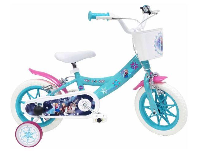 Un vélo pour fille qui représente la reine des neiges (4 ans ou 5 ans)