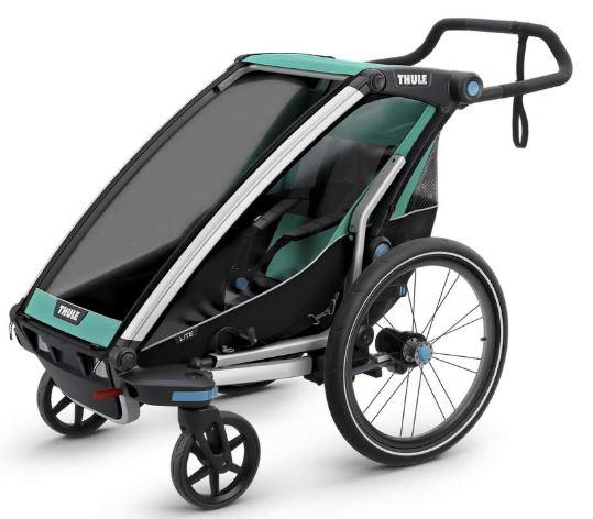 Une remorque à vélo multisport de la marque  Thule = Chariot Lite (multisport)