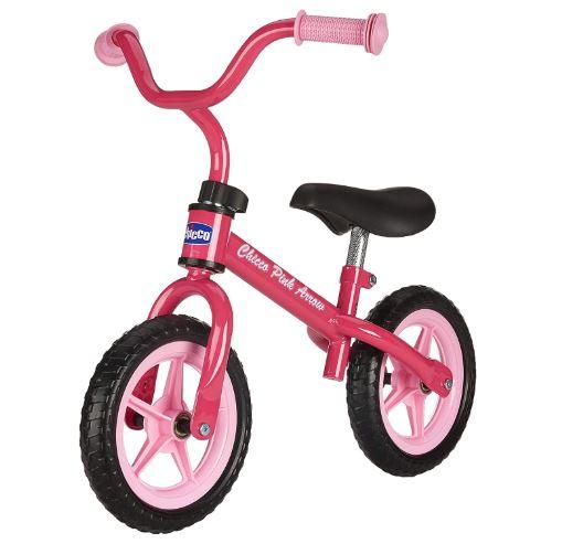 la draisienne pas cher de la marque Chicco en couleur rose pour les filles