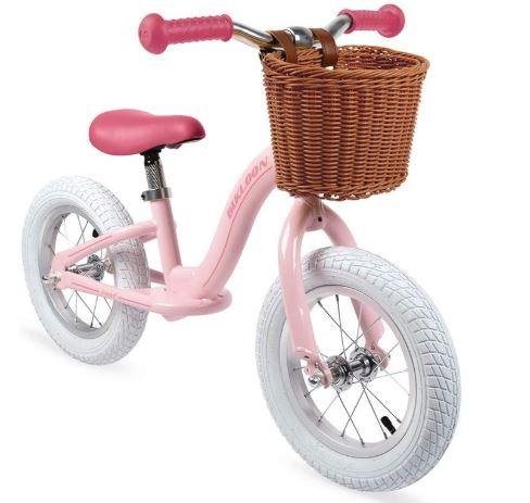 la nouvelle draisienne de la marque Janod (couleur rose)