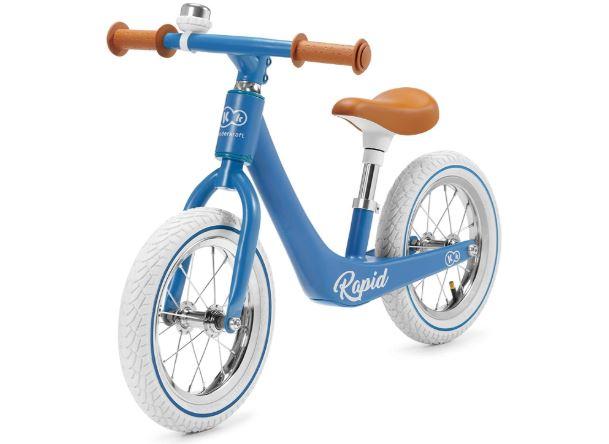 La draisienne Kinderkraft Rapid de couleur bleue