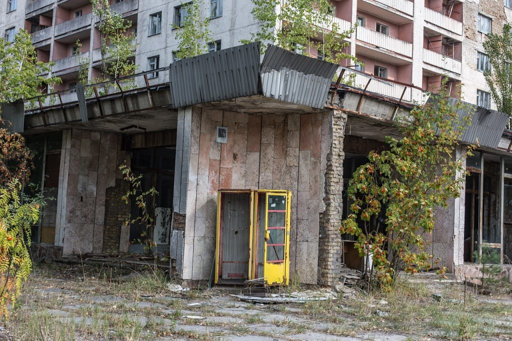 atom, nuclear power plant, abandoned